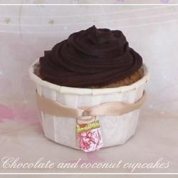 cupcakes mit kokos und schokolade