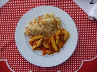curryfleisch mit reis