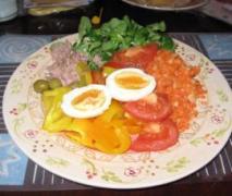 diätrezept nizza salat paprika salat mit ei