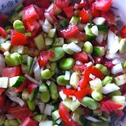 dicke bohnen salat