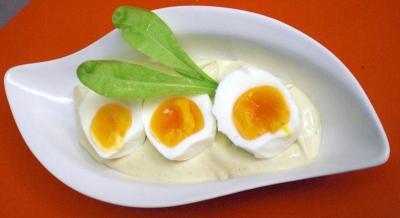 eier in joghurtsauce