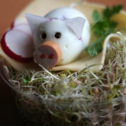 Kitkat torte mit schweinchen selbst machen gehen rezepte - Eier dekorieren ...