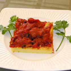 einfache polenta mit tomatensoße