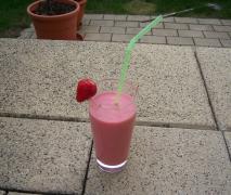 erdbeer bananen smoothie