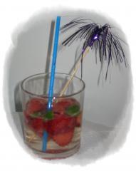 erdbeer kräuter bowle