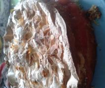 erdbeer rhabarber baisertorte kuchen