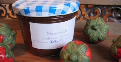 erdbeer vanille fruchtaufstrich