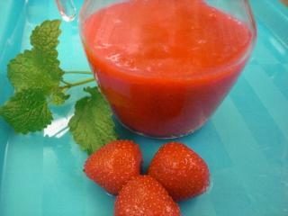 erdbeersauce kalt gerührt mit gelatine