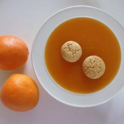 erfrischende aprikosenkaltschale