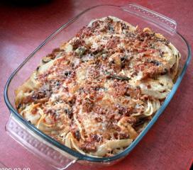 fenchel mit hackfleisch und pilzen