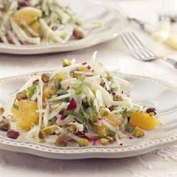 fenchel orangen salat auf rucola