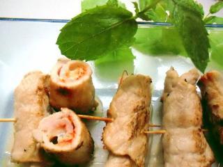 fingerfood schnitzelröllchen amp quot basilikum käse amp quot