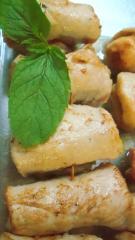 fingerfood schnitzelröllchen amp quot doppelrahmfrischkäse minze amp quot