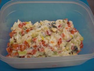 fleischwurst mais salat