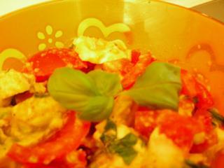 frischer tomaten avocado salat