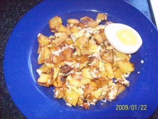 frittierte kartoffeln mit ei