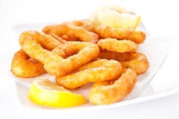 frittierte tintenfischringe