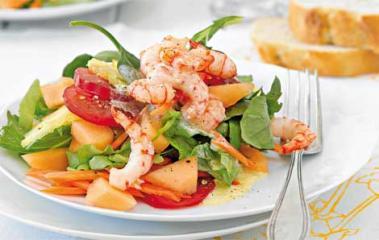 fruchtiger shrimpssalat