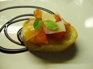 fruchtiges bruschetta