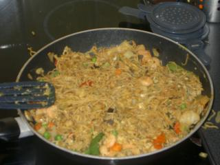 garnelen nudeln aus dem wok
