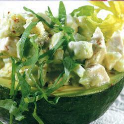 geflügel salat mit avocado