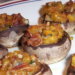 gefüllte champignons mit speck und gruyère