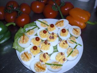 gefüllte eier mix