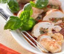 gefüllte hähnchenbrustfilets mit gemüse und kartof