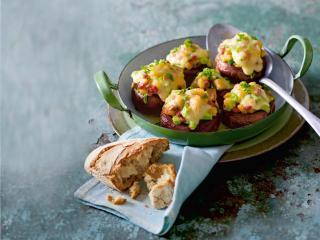 gefüllte raclette champignons