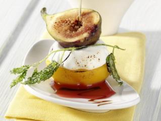 gegrillte pfirsichhälften