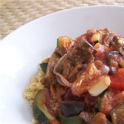 gegrilltes gemüse mit couscous