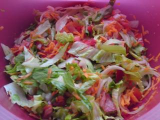 gemischter salat mit karotte