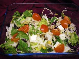 gemischter salat mit scamorza