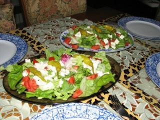 gemischtes salat mit fetakäse