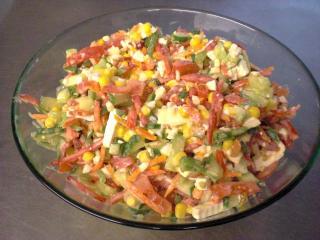 gemüse käse salat