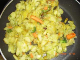 gemüse mix mit kartoffeln