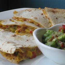 gemüse quesadillas mit bohnen