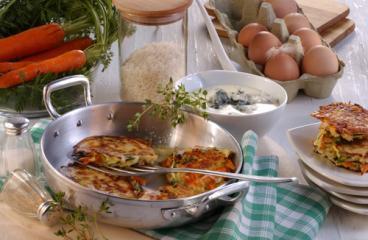 gemüse reistaler mit gorgonzolasauce