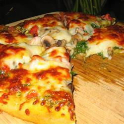gemüsepizza mit mozzarella