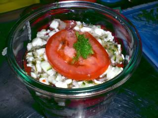 geschichteter fenchel tomaten salat
