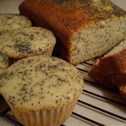 glasierte mohn muffins