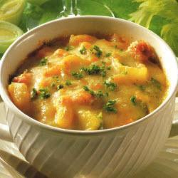 gratinierte bohnensuppe