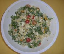 graupen rucola salat