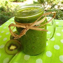 green smoothie mit kiwi