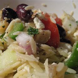 griechischer orzo salat