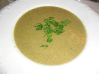 grüne samtsuppe