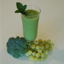 grüner smoothie mit honigmelone