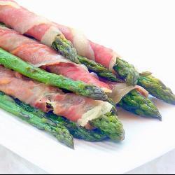 grüner spargel mit prosciutto im schnellkochtopf