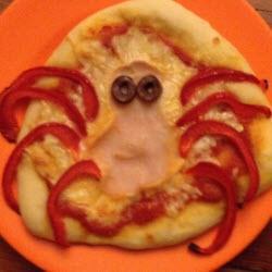 gruselige mini pizza