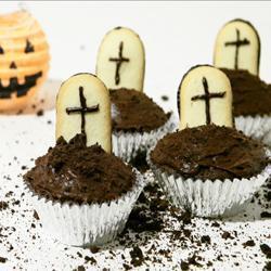 gruselige muffins zu halloween
